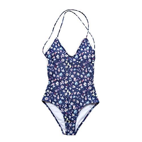 TENDYCOCO Mujeres Sexy Bikini de una Sola Pieza Impresión de Flores Traje de baño Verano Playa Traje de baño Tamaño XL