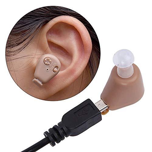 New Hörverstärker Axon K-88 komplett in Kanal, unsichtbar, Super Mini, verstellbar, Stimme Verstärker, klein, Hörgerät Wiederaufladbare Mini Hörgeräte