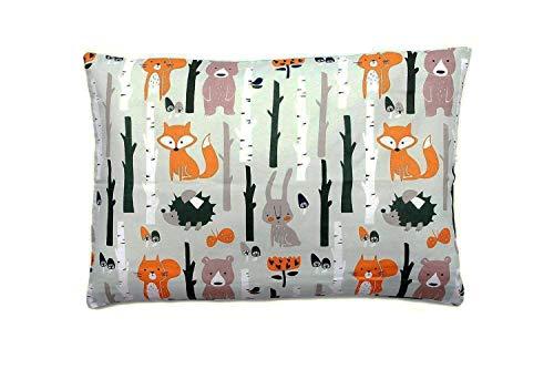 Kissenbezug Kissenhülle 40x60 cm mit Reißverschluss aus 100% Baumwolle, hergestellt in Europa (Wald)