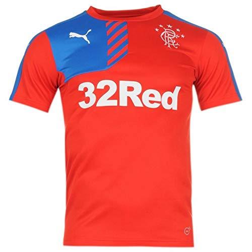 Puma Glasgow Rangers FC Training Jersey rot The Gers Fan Shirt Schottland Trikot, Größe:M