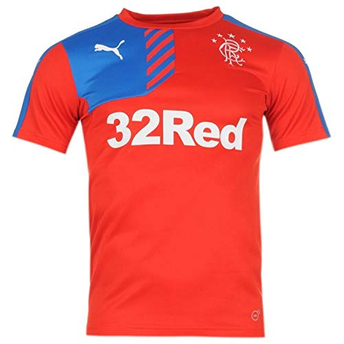 Puma Glasgow Rangers FC Training Jersey rot The Gers Fan Shirt Schottland Trikot, Größe:L