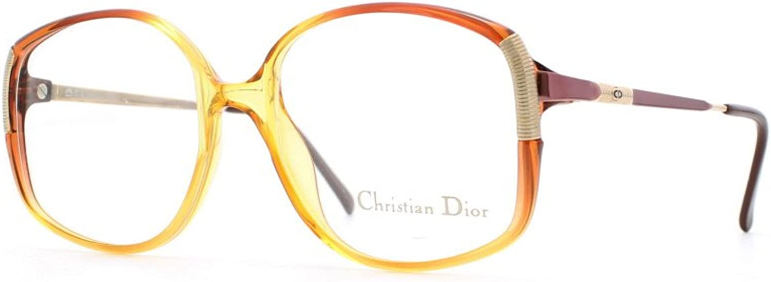 Christian Dior 2512 30 gold and Red Authentic Women Vintage Eyeglasses Frame