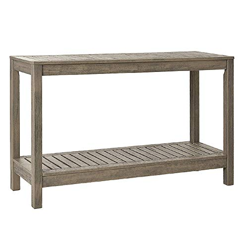 Cambridge Casual Solid Wood West Lake Outdoor Console Table, Weathered Grey