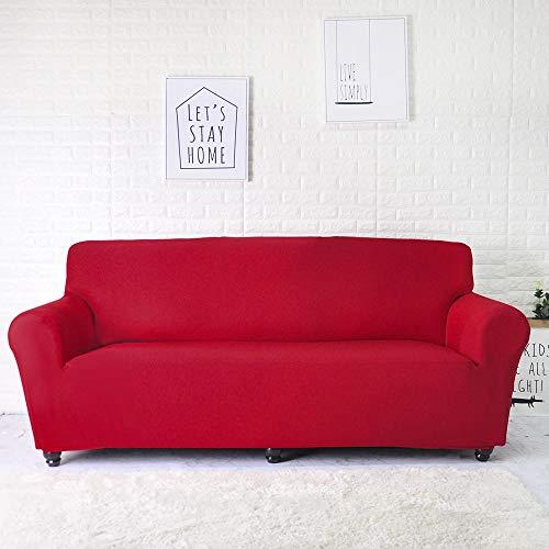 Fundas Lisas de patrón sólido Funda de sofá Fundas de sofá elásticas para Sala de Estar Funda de sofá Toalla de sofá Silla Funda de sofá A10 2 plazas