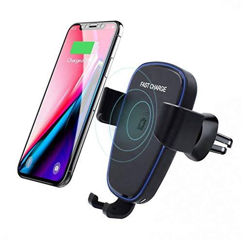 Funihut draadloze autolader, houder, draadloos, 7 W, voor iPhone XS Max XR XS X 8 Plus, 10 W voor Galaxy Note 9/8, S9/S8, 5 W voor Huawei Mate 20 Pro
