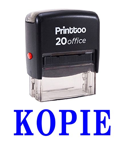 Printtoo Büro Stationär KOPIE Selbstfärber Stempel Individuelle Stempel-Blau