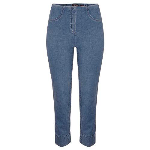 Robell Bella - Pantaloni stretch estivi – Jeans invernali Capri Denim Blu 54