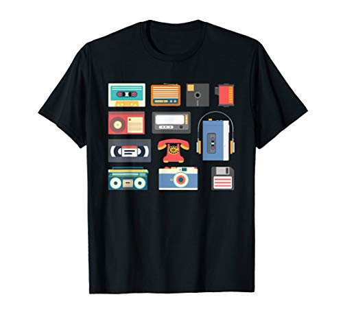 Retro 1990s technology - games gadget electronics T-Shirt