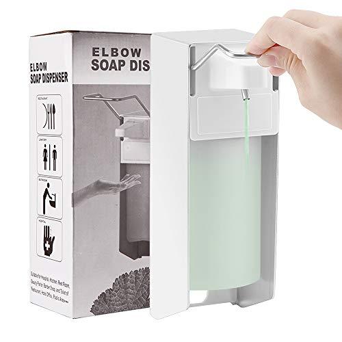 OurLeeme Seifenspender Wandhalterung, 500 ml Aluminium Legierung Seifenspender und desinfektionsmittelspender manuell Typ