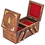 Valentine Special For Women/Girls Handmade Wooden Jewelry Box - Folding Wooden Storage Box - Wood Vintage Box II Jewel Organizer Wood Ware