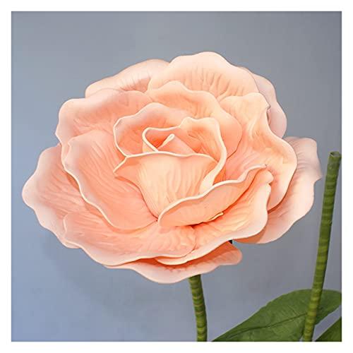 ZHANGHONGWEI Künstliche Blume gefälschte Blume Großer Schaumrose mit Stielen für Hochzeitshintergrunddekor Fenster Display Bühne Valentinstag (Color : Champagne Flower, Size : 30cm)
