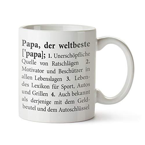 Tassenwerk – Weiße Tasse mit Aufdruck – Definition Papa – Keramiktasse – Bedruckte Kaffeetasse – Geschenkideen für Papa zum Geburtstag – Vatertagsgeschenke – Tassen als Geschenkidee zu Weihnachten