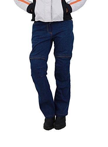 Nerve Ata Jeans Pantalones Vaqueros de Moto para Mujer, Azul, 40