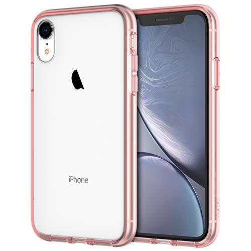 JETech Funda Compatible iPhone XR 6,1 , Carcasa Absorción de Impacto (Oro Rosa)