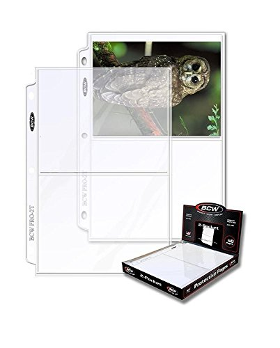 """BCW Perfect for Storing 5x7 Photographs or Postcards. Pocket Dimensions: 5-1/2"""" x 7-1/8"""", Clear 25 Count"""
