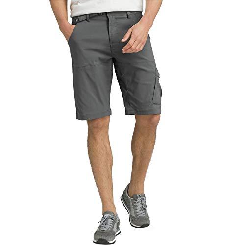 prAna Men's Standard Stretch Zion Short, Charcoal, 35W x 12L