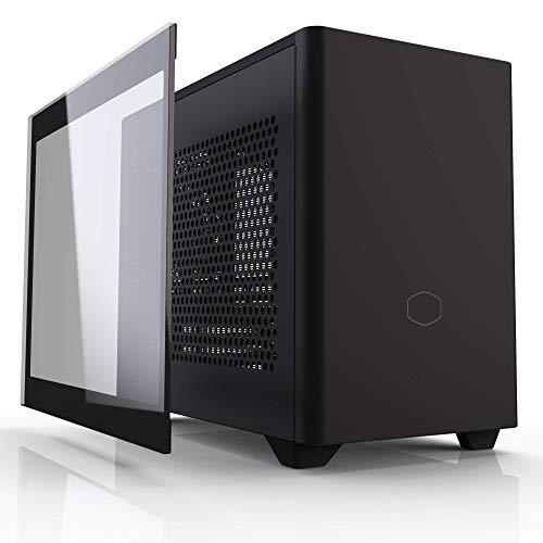 Cooler Master MasterBox NR200P Mini Computer Case ITX - Pannello Vetro Temperato, Opzioni di Raffreddamento Superiori, Display GPU Verticale, Accessibilità 360 Gradi Senza Attrezzi, NR200P Nero(Noir)