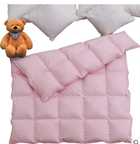 Lightweight All Season Baby/Toddler White Goose Down Comforter Duvet Insert for Crib Bedding 100% Cotton Shell Down Proof (Pink,33X43in)