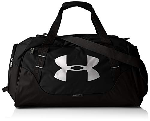 Under Armour Undeniable Duffle 3.0 Gym Bag, Black (001)/Silver, X-Large