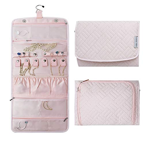Essentials·Forever Travel Jewelry Organizer Roll Foldable Jewelry Case for JourneyRings Necklaces Earrings Bracelets