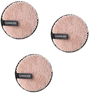 NFRMJMR Paquet de 3 Face à l'éponge Nettoyage Coussins de maquillage Cosmétiques Pads de maquillage lavables Pads de coton réutilisables Tapis de coton Super Soft Soft Doux respectueux de l'environnem