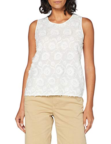 Gerry Weber Womens 360053 Blouse, Off-White, 40