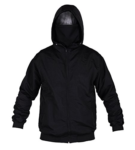 loco Ultras Hooligan Ninja Riot Zipperjacke mit eingearbeiteter Sturmhaube L8 (XL)