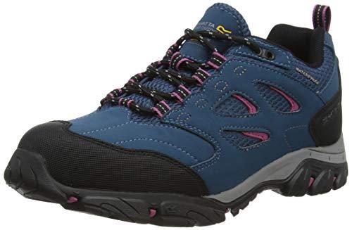 Regatta Holcombe Iep Low' Waterproof Breathable Rubber Toe Double Eyelet Walking Shoes, Chaussure de Marche Femme, Morrocon Blue Red Violet, 39.5 EU