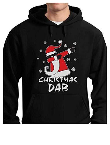 Laura Longman Dabbing Santa Christmas Dab Funny Xmas Mens Hoodie