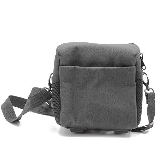 vhbw Kamera-Tasche Canvas/weiches Innenfutter schwarz passend für Nikon CoolPix L110, P100, P300, P500, P7000, P7100, S1200pj, S6000, S8200