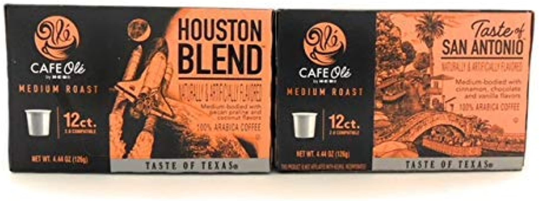 Cafe Ole Coffee Houston Blend Taste Of San Antonio K Cups 24 Cups Bundle