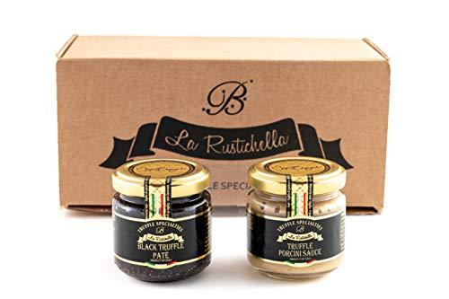 La Rustichella Salsa Tartufo Porcino & Tartufo Nero Paté Set180 g