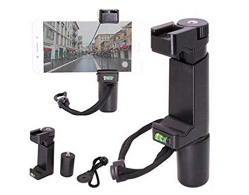 OCTO MOUNTS | F-Mount Mobile Smartphone Camera Grip Holder Handle Rig Monopod with Tripod Mount and Cold Shoe Mount for Filming Video on Most Smartphones - iPhone, iPhone Plus, Galaxy, Android