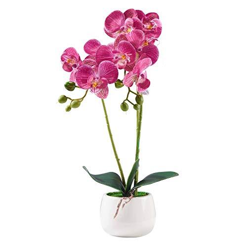 Alicemall 33cm Flor Artificial orquídea de Seda Phalaenopsis en Macet