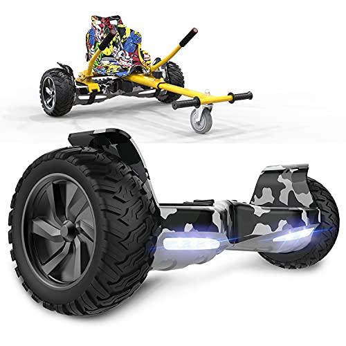 GeekMe Scooter Elettrico autoalimentato da 8,5 '' per Tutti i Terreni con Potente Motore Bluetooth + Hoverkart per Overboard…