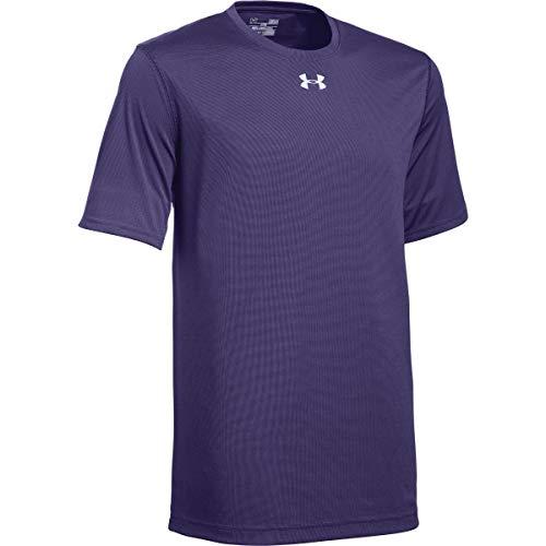 Under Armour Men's UA Locker 2.0 T-Shirt, Purple-metallic Silver, Size Large