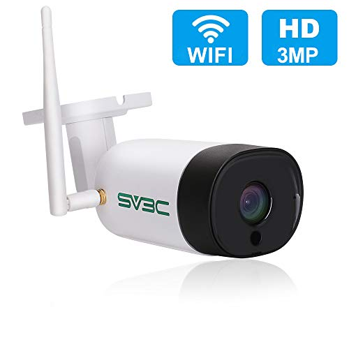 SV3C 3MP WiFi Camera, HD Security Wireless Camera Outdoor, Two-Way Audio, IR Night Vision, Motion Detection Surveillance Camera, IP66 Waterproof IP Camera, CCTV, Support Max 128GB SD Card