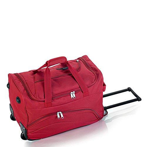 Gabol - Week | Bolso con Ruedas de Viaje Pequeño de Tela de 50 x 33 x 25 cm con Capacidad para 41 L de Color Rojo