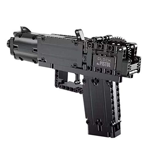 TRCC Juego de 288 piezas de simulación de armas de mano Blaster Bricks de juguete DIY de bloques de construcción militar compatible con Lego