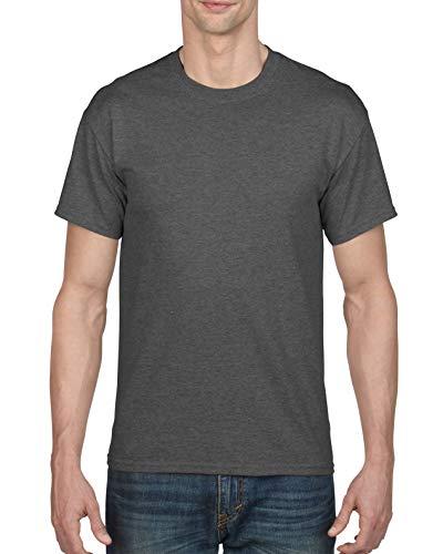 Gildan Men's DryBlend T-Shirt, Style G8000, 2-Pack, Dark Heather, Medium