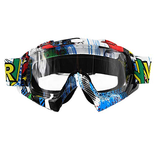 logas Motorradbrille Cross Winddicht Skibrille Anti-Fog Snowboardbrille Anti-Impact für Herren/Damen/Kinder