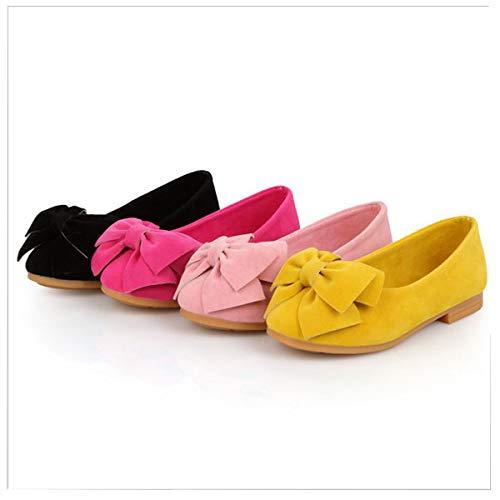 子供服 靴 女の子 パンプス フラットシューズ 海外ブランド リボンスエードパンプス 22.5(35) チェリーピンク