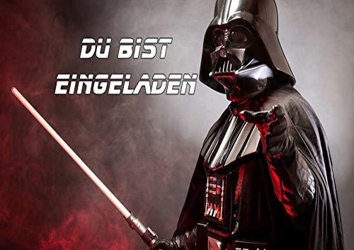 TV-24 Star Wars Einladungskarten 6er Set inkl. 6 Umschläge E2