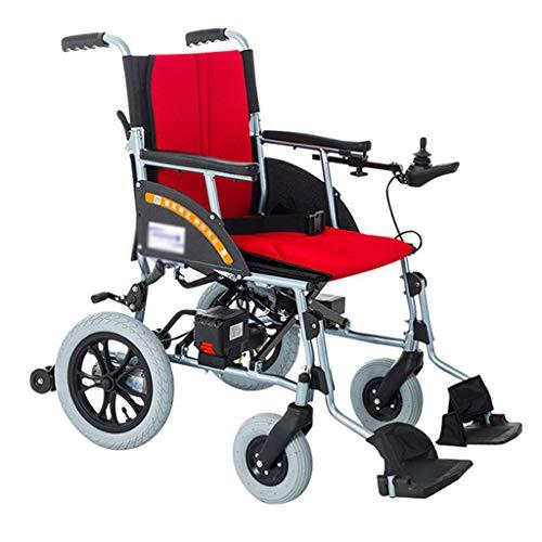 HSDDLY Leichtgewichtrollstuhl, Elektro-Rollstuhl Öffnen/Fast Folding Die Leichtesten kompakteste Electric Chair mit Elektroantrieb oder manuelle Rollstühle können durch