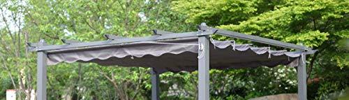 Angel Living Polyester Ersatzdach für 3x3M Garten Pergola Pavillon,258x258cm,Grau