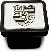 Porsche Genuine OEM Cayenne Trailer Hitch Cover -Black on Silver