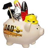 alles-meine.de GmbH Spardose - Schwein _ Dad´s Spielzeug _ aus Porzellan / Keramik - Werkzeug Handwerker Männer Heimwerker Bastler - Sparschwein - Spielzeug Fonds für Erwachsene ..