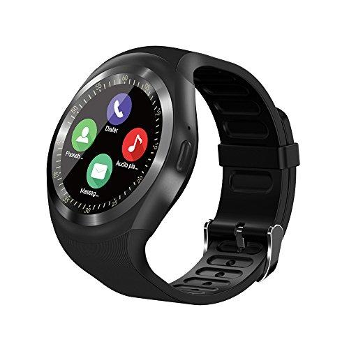 Tipmant Reloj Inteligente Mujer Hombre SN05 Smartwatch Pantalla táctil con Ranura para Tarjeta SIM Podómetro Moviles Baratos y Buenos Pulsera de Actividad para Android Xiaomi Samsung Huawei (Black)
