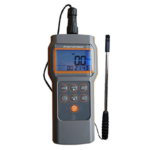 XQAQX Anemómetro Medidor de Velocidad Viento Aire Anemómetro Impulsor pequeño Anemómetro Digital 18 mm Impulsor Sensor telescópico