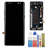 New Super Amloed Display Assembly Compatible with Samsung Galaxy Note 8 N950U N950F N950W LCD Display Touch Screen Digitizer with Frame+ Tools (Black)